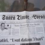front page Suara Timor Lorosae newspaper 6 Dec 2002